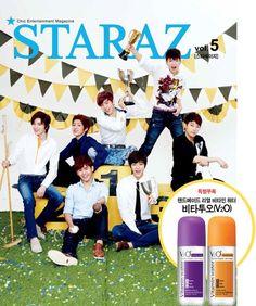 INFINITE becomes the cover model for 'STARAZ's May edition    - me gusta xD wapapida aigoooooo >_