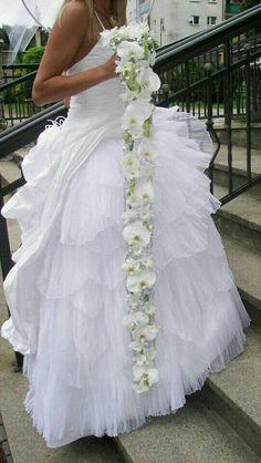 Church Wedding Flowers, Cascading Wedding Bouquets, Cascade Bouquet, Bride Bouquets, Bridal Flowers, Flower Bouquet Wedding, Floral Bouquets, Brooch Bouquets, Purple Wedding