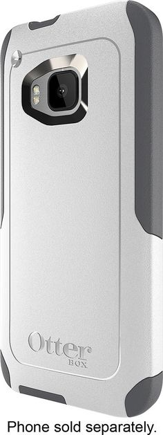 OtterBox - Commuter Series Case for HTC One (M9) Cell Phones - White/Gunmetal Gray, 45014BBR