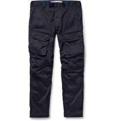White Mountaineering - Slim-Fit Coated Cotton-Blend Cargo Trousers | MR PORTER