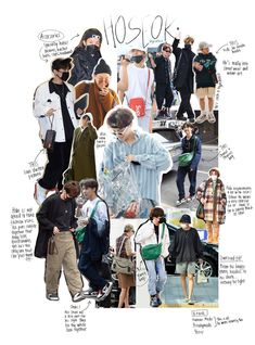a style guide to bts Foto Bts, Bts Photo, Bts Airport, Airport Style, Big Sean, Jung Hoseok, Streetwear, J Hope Dance, Bts Clothing
