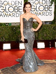 Kate Beckinsale, Golden Globes 2014. Another dress that was gorgeous and this picture does not do it justice