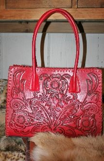 Juan Antonio Red Tooled Leather Western Boots And Accessories Pinterest Purses Bags