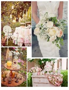 Cottage style garden wedding colors/decor