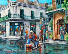 Grandpa Elliott, Grandpa's Corner, Music Art, Playing for a Change, Canvas or Print, French Quarter, New Orleans Art, by New Orleans Artist