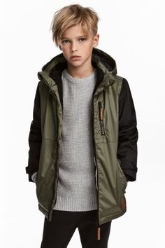 Padded jacket in windproof, water-repellent, breathable functional fabric with a detach New Haircuts For Boys, Kids Hairstyles Boys, Boy Haircuts Long, Boys Haircuts Trendy 2018, Teenager Haircuts Boys, Kids Cuts, Boy Cuts, Padded Jacket, Boy Fashion