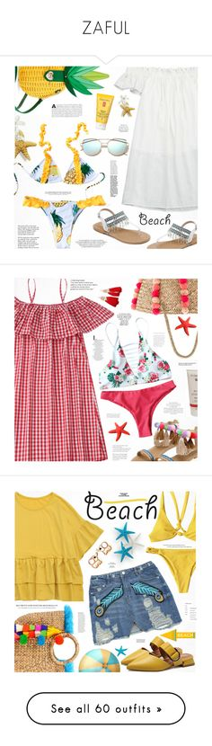 """""""ZAFUL"""" by katjuncica ❤ liked on Polyvore featuring Betsey Johnson, Elizabeth Arden, Tiffany & Co., beachday, Seafolly, Dr.Hauschka, Rika, Anja, Sun N' Sand and Cult Gaia"""