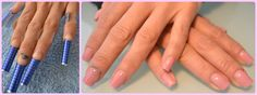 Artificial gel nails - Pink camouflage extension