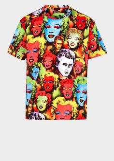 Pop Art Print Tribute T-shirt - Versace The Versace Tribute Collection  Versace Men, beadd6c135e