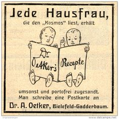 Original-Werbung/Anzeige 1911 - DR. OETKER'S RECEPTE /MOTIV KINDER ca. 70 x 70 mm