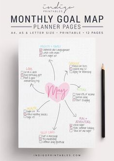Ziel-Planer-Pack, 12 Seiten, druckbare leer | Erstellt von @IndigoPrintables Ihr Zielplaner hilft Ihnen Ihre Ziele für das kommende Jahr zu kartieren und zu verfolgen, damit Sie darauf konzentrieren können, Dinge getan. Erstellen einer Mindmap Ihrer Ziele für den Monat voran, und oder brechen sie Ihre große monatliche Ziel in mundgerechte Aktion Aufgaben. BITTE BEACHTEN SIE: Planer, die Seiten LEER, der Abbildung sind oben mit Abschnitte wie Karriere, Zukunft, etc.. Ist ein Mock-up und…