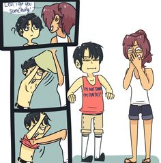 This is so funny! Levi is short, BUT ALSO FUN SIZED!