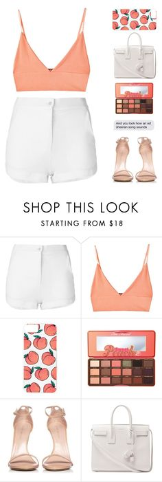 """""""be young, be dope, be proud."""" by moonlightbaeex ❤ liked on Polyvore featuring Eleventy, For Love & Lemons, Skinnydip, Too Faced Cosmetics, Stuart Weitzman, Yves Saint Laurent, polyvoreeditorial and topset"""