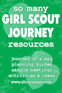 Journey in a Day, Planning Guides, Sample Meetings, Activities & Ideas Scout Mom, Girl Scout Swap, Girl Scout Leader, Daisy Girl Scouts, Girl Scout Troop, Cub Scouts, Brownie Girl Scouts, Girl Scout Cookies, Brownie Quest Journey