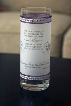 Memory Candles For Wedding Ceremony