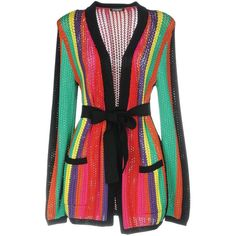 Balmain Cardigan ($1,260) ❤ liked on Polyvore featuring tops, cardigans, jackets, green, multicolor cardigan, balmain top, cardigan top, light weight cardigan and green long sleeve top
