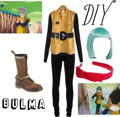 """DIY: Bulma Costume"" by missstevierae on Polyvore"