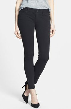 Favorite leggings. So comfy and cute! Paige Denim 'Verdugo' Skinny Ponte Ankle Pants (Black) | Nordstrom