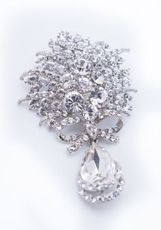 For The Princess Bride: Add glamour and shine to your outfit with this sparkling brooch from Twinkle Twinkle Tiaras, available at Bella Brilla: http://www.bellabrilla.com/designers/twinkle-twinkle-tiaras/zirna-brooch.html