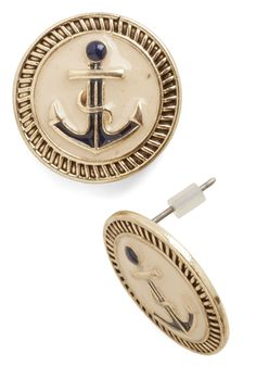 Boating Beauty Earrings. Take to the seas in striking style by you posting these nautical earrings in your lobes!  #modcloth