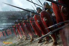 Fantasy Battle, Fantasy Armor, Fantasy Weapons, Medieval Art, Medieval Fantasy, Byzantine Army, Armadura Medieval, Game Of Thrones Art, Fantasy Concept Art