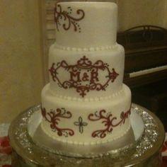 Monogram cake granburycakes.com
