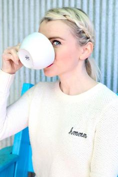 Hmmm...I think it's time for another cup of coffee! ☕️ || Shop >> http://liketk.it/2q6xL @liketoknow.it #liketkit #poorlittleitgirl #coffeebreak #hmmm #braids ||