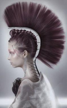 Photos by Gisli Ari Hafsteinsson, Avant-garde coiffure awards Crazy Hair, Big Hair, Headdress, Headpiece, Pelo Editorial, Fantasy Hair, Maquillage Halloween, Hair Shows, Creative Hairstyles