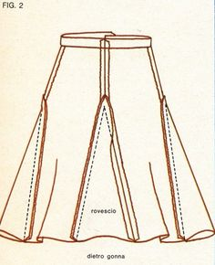 Insert 4 triangles between and on sides of legs to make a skirt.