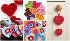 Corazones a crochet que podrás elaborar con estos tutoriales