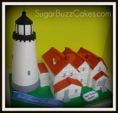 Point Iroquois Lighthouse, MI cake
