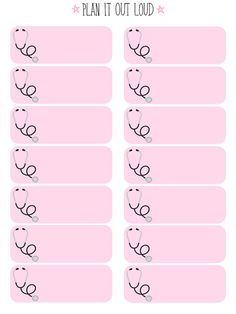 Doctor's Appointment Stickers (Erin Condren Stickers)