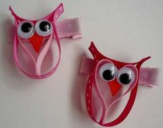 Owl Hair Bow @Tracy Stewart Stewart Roach you should make these!