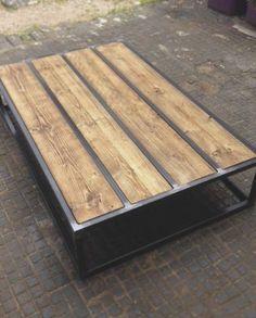 Reclaimed wood brickmaker's coffee table