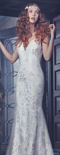 sareh nouri spring 2018 bridal sleeveless strap deep sweetheart neckline full embellishement elegant fit and flare wedding dress open v back sweep train (waverly) zv -- Sareh Nouri Spring 2018 Wedding Dresses