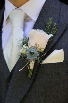 Flower Design Events: Laura & Paul's Gorgeous Nude, Ivory & Pale Blue Wedding at St Annes Singleton & Singleton Lodge