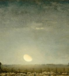 Jean-Francois Millet / Park with Sheep in the Moonlight  c. 1872, Musee d'Orsay, Paris.