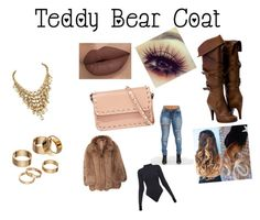 """""""Teddy Bear"""" by olirose ❤ liked on Polyvore featuring Apt. 9, Valentino, Michael Kors and Ivy Park"""