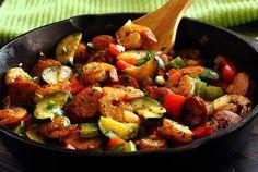 20-Minute Shrimp & Sausage Paleo Skillet Meal