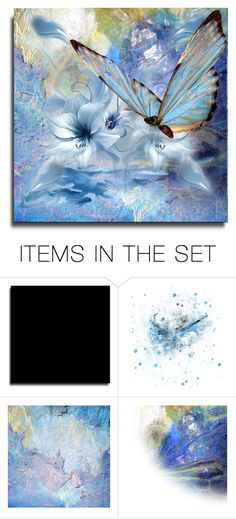 """""""Blue Butterfly"""" by erina-i on Polyvore featuring art"""