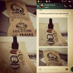 Thanks to Mr. Irwan for buying ✯ JIM REBORN ✯ BEARD OIL #jimreborn #gentlemans #grooming #cambang #jenggot #kumis