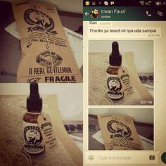 Thanks to Mr. Irwan for buying ✯ JIM REBORN ✯ BEARD OIL #jimreborn #gentlemans #grooming #cambang #jenggot #kumis