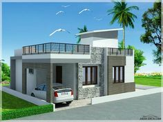 Front Wall Design, House Window Design, Village House Design, Independent House, Small House Layout, House Layouts, Bungalow Haus Design, Modern House Design, Style At Home