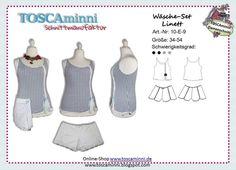 Nähanleitungen Mode - 10E9 Ebook Unterwäscheset Linett Gr. 34-54 - ein Designerstück von TOSCAminni-Schnittmanufaktur bei DaWanda