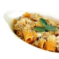 One Perfect Bite: Pumpkin, Sausage and Sage Rigatoni Meat Recipes, Pasta Recipes, Healthy Recipes, Baked Mostaccioli, Rigatoni, Penne Pasta, So Little Time, Pasta Dishes, Al Dente