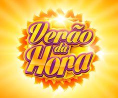Campanha - Verão da Hora Cliente: Hora Certa Relojoaria Text Design, Ad Design, Design Show, Branding Design, Logo Design, 3d Typography, Game Logo, Text Style, Graphic Design Posters