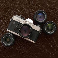 Canon FTb-N with FD lenses | by CorgiHouse