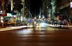 Buenos Aires avenues at night by lrargerich, via Flickr