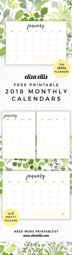 Terrific Absolutely Free large monthly calendar Concepts From work deadlines to family happenings and random reminders, Calendar is what keeps me on the righ 2018 Calendar Printable Free, Monthly Calendar 2018, Monthly Planner Printable, Diy Calendar, Print Calendar, Fitness Calendar, Planner 2018, Work Planner, Free Printables