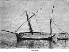 "El Llaüt Viatger - illustr. from ""Die Balearien"" by l'Arxiduc Luis Salvador d'Austria, ca. 1870-80"